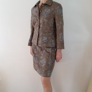🌹HP🌹Ann Taylor Jacket & Skirt Wool Tapestry Suit